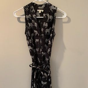 Anthropologie zebra dress